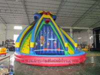 High quality commercial inflatable water slides wholesale
