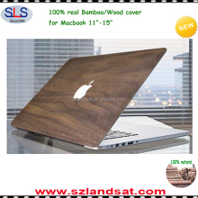 2016 hottest products laser engraving custom bamboo wooden case cover for macbook air pro 11-15 inches top case WMC002