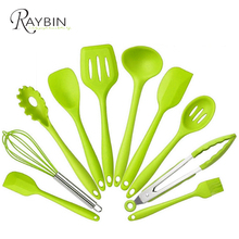 Hot selling 2017 amazon 10 Pieces Silicone Cooking & Baking Tool Sets / Silicone Kitchen Utensils Set