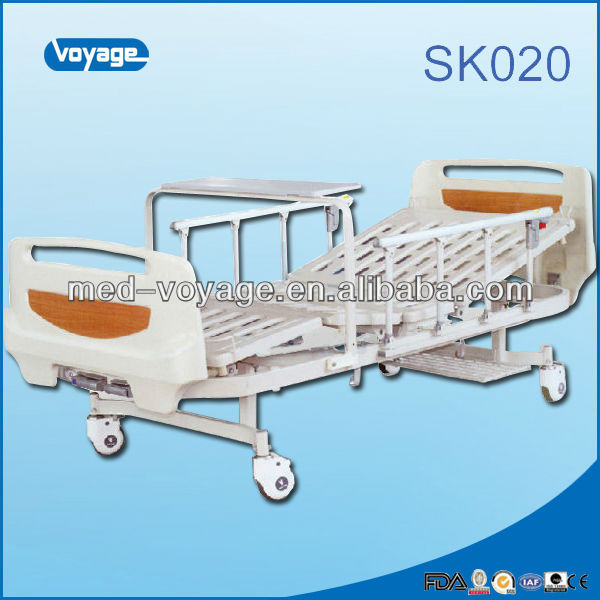 2014 voyage Newest Hot Selling Manual Double Crank Cheap Hospital Bed
