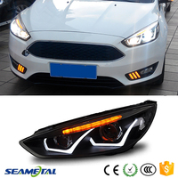 New Car LED Headlight Kit Daytime Running Light DRL + Turning Light ABS Head Lamp For Ford Focus 3 sedan Hatchback 2015 2016