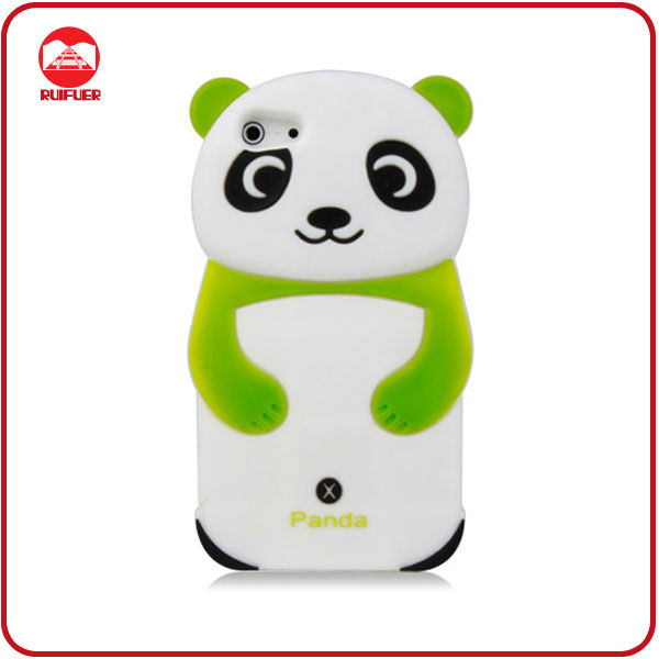 For iPhone 5 Cute Silicone Panda Cell Phone Case
