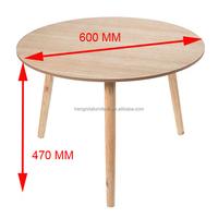 big natural scandinavian solid birch wood end table