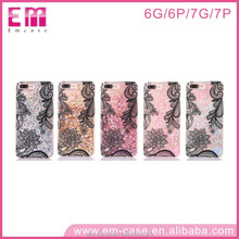 Popular customized print 3D sublimation OEM liquid phone case for iphone 6 6+ 7 7+ diamond case