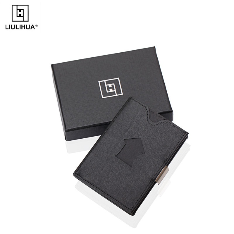 LLH triple business card holder stainless steel trihold wallet