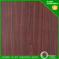 China top ten selling fake wooden door stainless steel plate