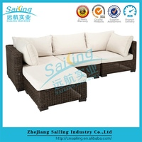 Sailing luxury exclusive cheap pe rattan latest corner sofa design