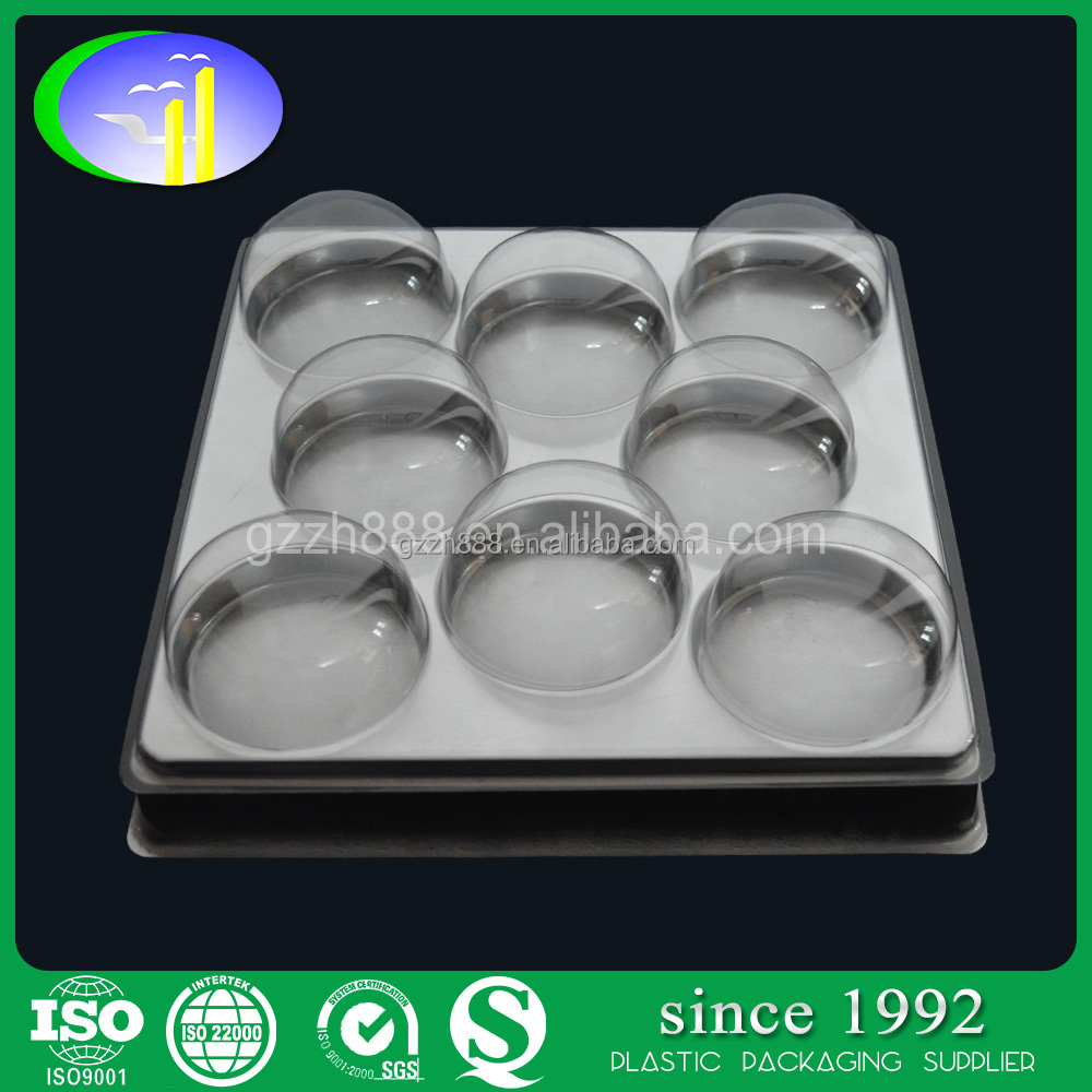 8 pcs Disposable Plastic Transparent Bakery Burger Container Fruit Trays