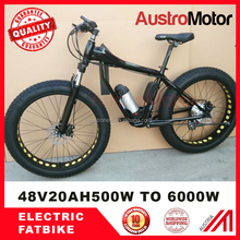 26*4.0 750W Fat tire electric Mountain bike with CE