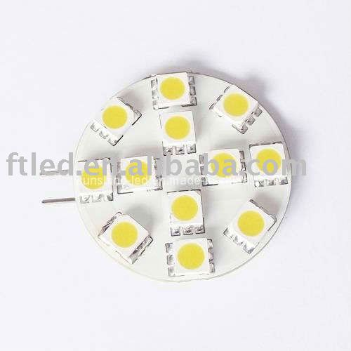 Hot sale 2w g4 led light bulb 12pcs smd5050