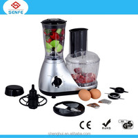 2015 high quality food processor home electric food processor stianless steel balde plastic jar