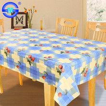 Newest flower printed pattern nice modern navy blue vinyl tablecloth