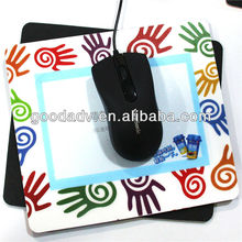 low price with high quality eco-friendly promotion gift photo insert charging mouse pad