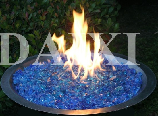 Wholesale Decorative Tumbled Fire Glass