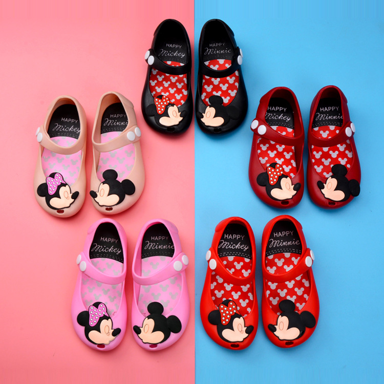 2018 children cute jelly <strong>sandals</strong> hollow out summer round toe kids jelly shoes