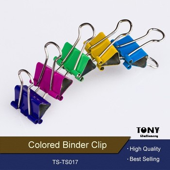 32mm colored logo metal double foldback binder clip