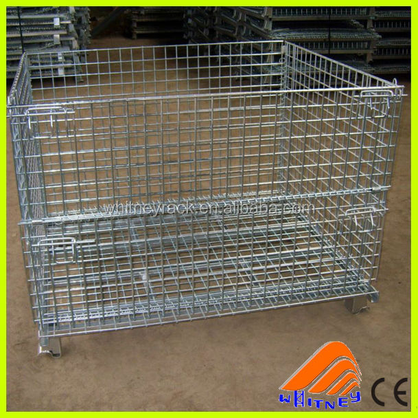 hot sell high quality wire mesh pallet container,large wire mesh container,frozen containers for sale
