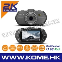 hot kome dash cam 1080p car camcoder dvr night vision car kit drive car video recorder with detector new 2015