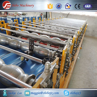 2015 new product roof and wall steel tile double layer roll forming machine, metal plate forming machine on Canton Fair