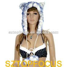 New Style Fancy Faux Fur Plush Sex Animal Women's Hat