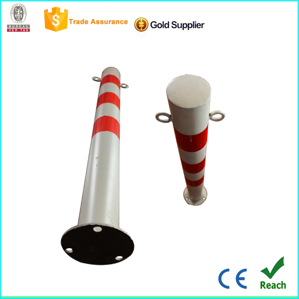 Marker post 800mm iron traffic pole red and white metal post for sale