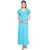 OEM service max long woven maternity dress korean style maternity dress