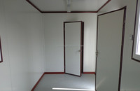 High Quality 20FT flat pack Sandwich Panel prefabricated container insulated cabins