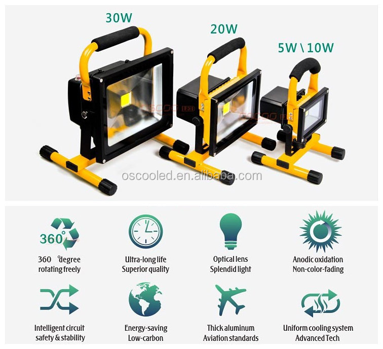 OSCOO led flood light tech box,10w rechargeable led flood light from alibaba best sellers OSCOO Manufacture