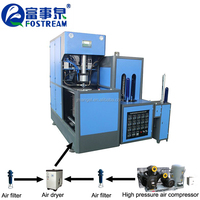 Semi Automatic 19l 20l 19 20 liter 3 4 5 Gallon PET bottle blowing machine