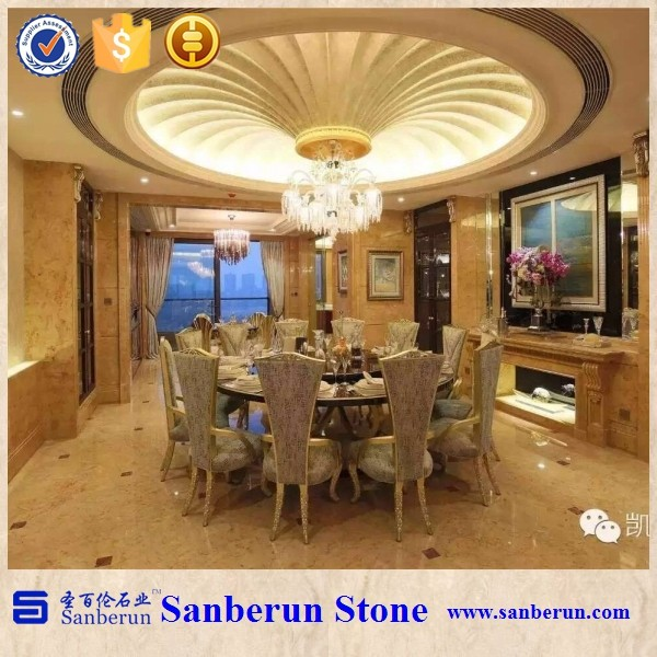 Turkish Marble tile Golden Rose Marble For Sale