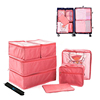 8 pcs travel Packing Cubes Luggage Organizers with shoe bag