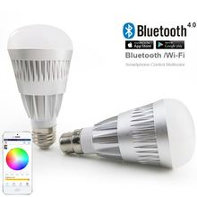 2016 new innovative products Android IOS RGBW 6w9w fiber marking led bulb aluminum