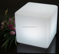 illuminated led cube light Coffee Club& tea house