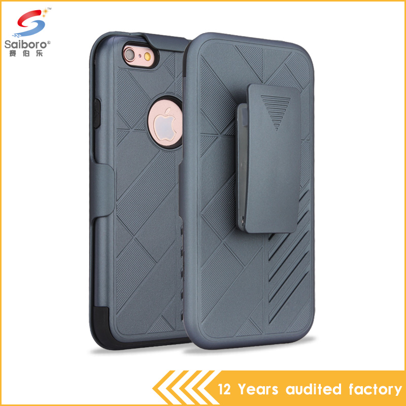 Hot sale high quality fancy back splint phone case for iPhone 6, Phone case with belt clip