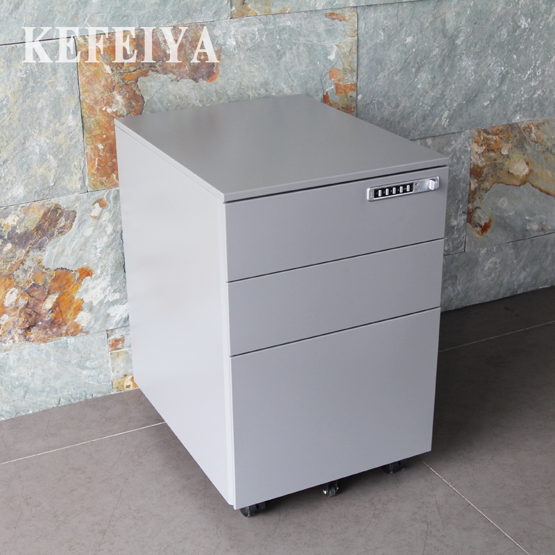 Metal Small Steel Storage Cabinets 3 Drawer Mobile Pedestal Cabinet