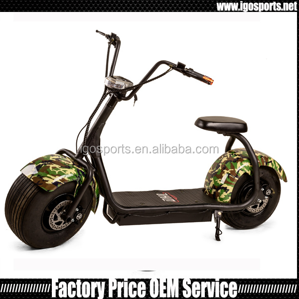 1500w citycoco fat tire electric scooter