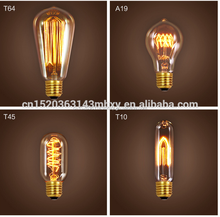 edison light bulb vintage ST64 china e26/e27 G80/G125/A19/ST64/T30 decorative 220V vintage style lamps E27 lifebulb led filament