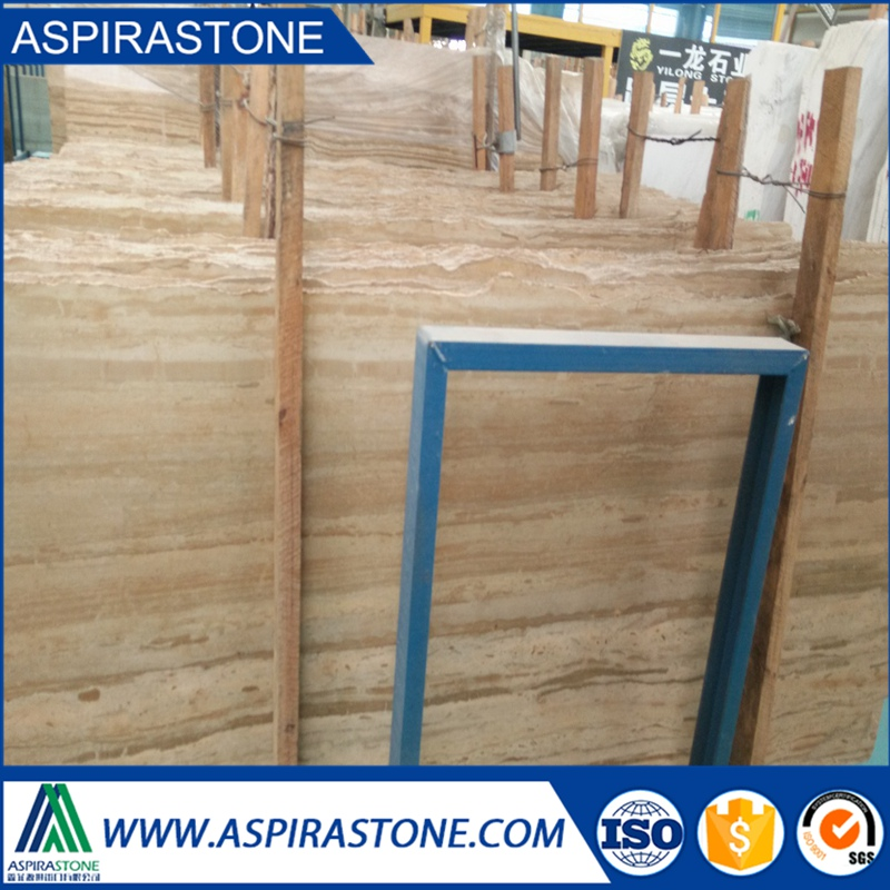 China Cream Wooden Vein Marble Yellow Wood vein Travertine marble slab and tile price