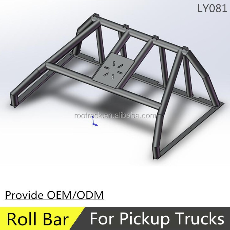 LY081 high quality universal 4WD black steel roll bar for trucks