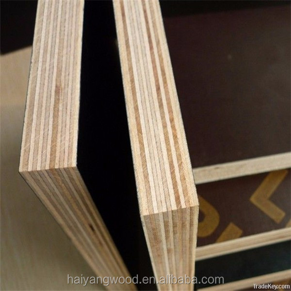 12 mm laminated waterproof film faced plywood for construction with factory price