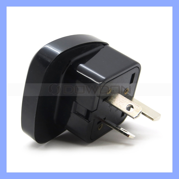 240V 10A Universal Socket to Australia Electric Converter Australian Type 3 Pin Black Color EU to AU Plug Adapter
