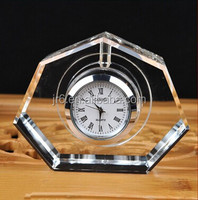 nice crystal table clock glass desk clock