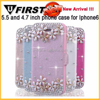 phone case for iphone6, for iphone 6 bling wallet case