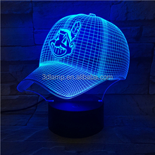 3D Illusion Lamp Hat LED Acrylic Colorful Night Light Atmosphere Novelty Gift Lamp for guys gifts and games