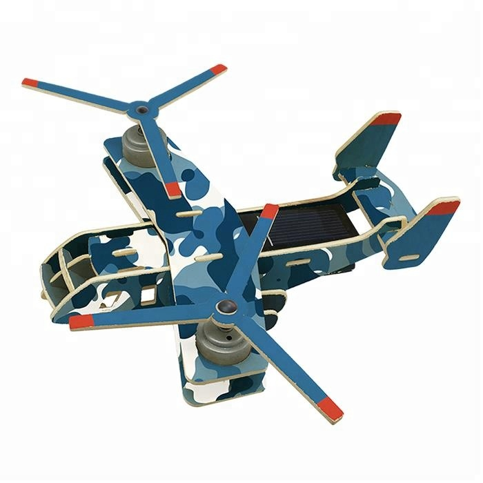 Solar Plane Puzzle 3D Vehicle Wood Toys for <strong>Kid</strong> Educational