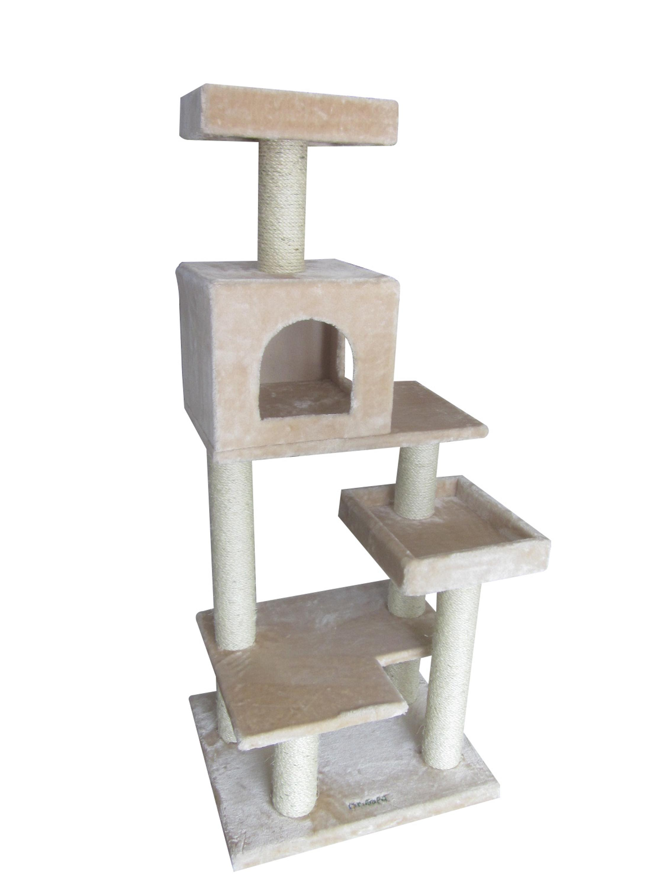 BSCI QQ Factory Nature Sisal Luxury Cat Tree , durable cat house cat tree house