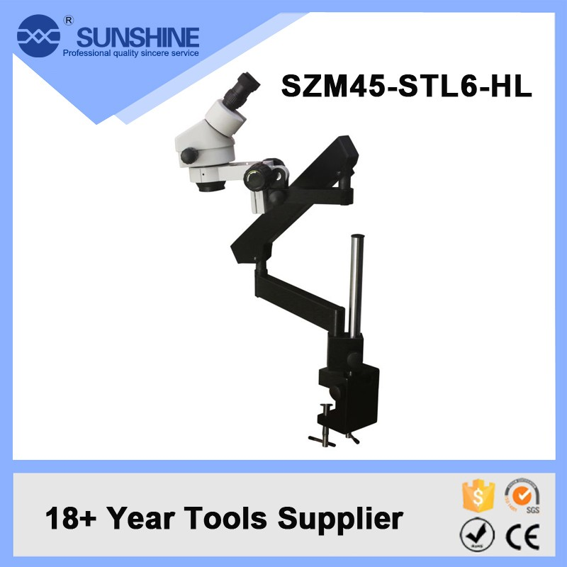 SUNSHINE Flexible Moving Articulated Arm Stereo Zoom Boom Stand Stereo Microscope