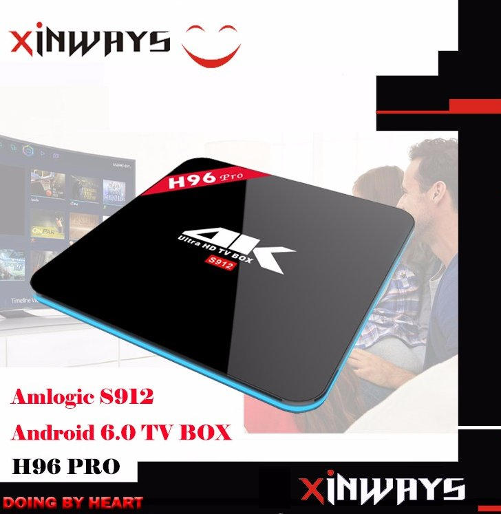 OEM & ODM Android 6.0 TV Box Amlogic S912 Octa Core 2G/16G Kodi BT 4.0 Dual Band WIFI TV Box With Customized Logo and Software