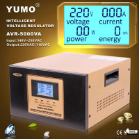 YUMO input 140V 250VAC output 220V 110V Digital LCD 3 plug Automatic voltage regulator automatic voltage stabilizer circuit