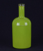 green painted glass vodka bottle 500ml